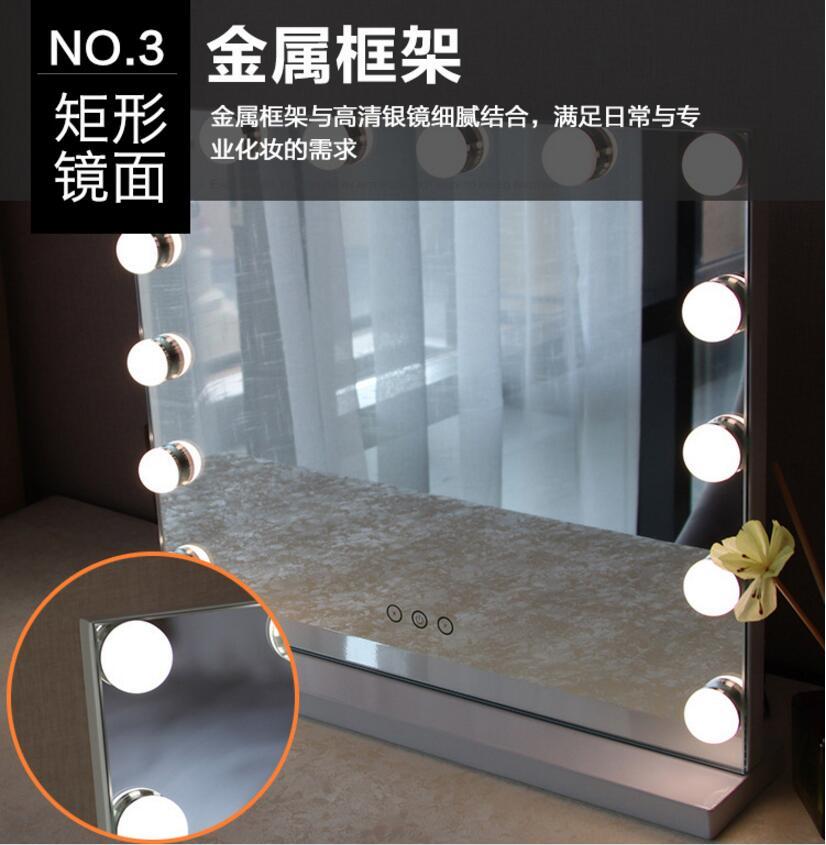 hollywood maquiagem iluminado espelho 3 cor luz