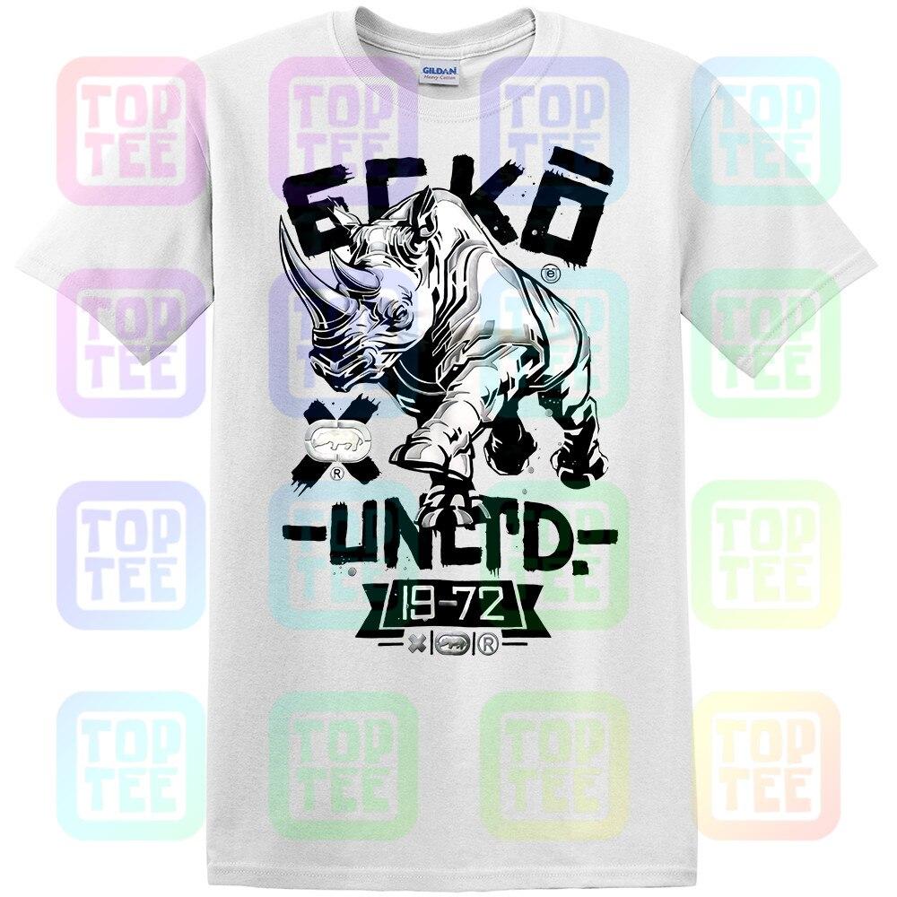 New Streetwear Ecko Unltd. Crew Neck Short Sleeve Graphic White T-Shirt New Fashion Men Women Size S-3Xl