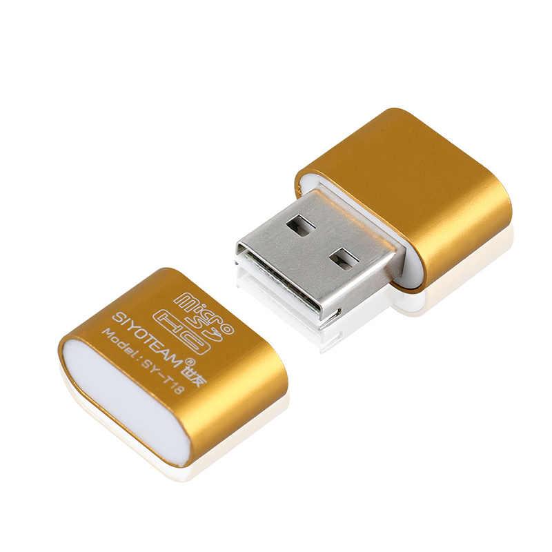 Mini USB portátil 2,0 Micro SD TF lector de tarjetas de memoria adaptador Flash unidad SD memoria Flash al por mayor