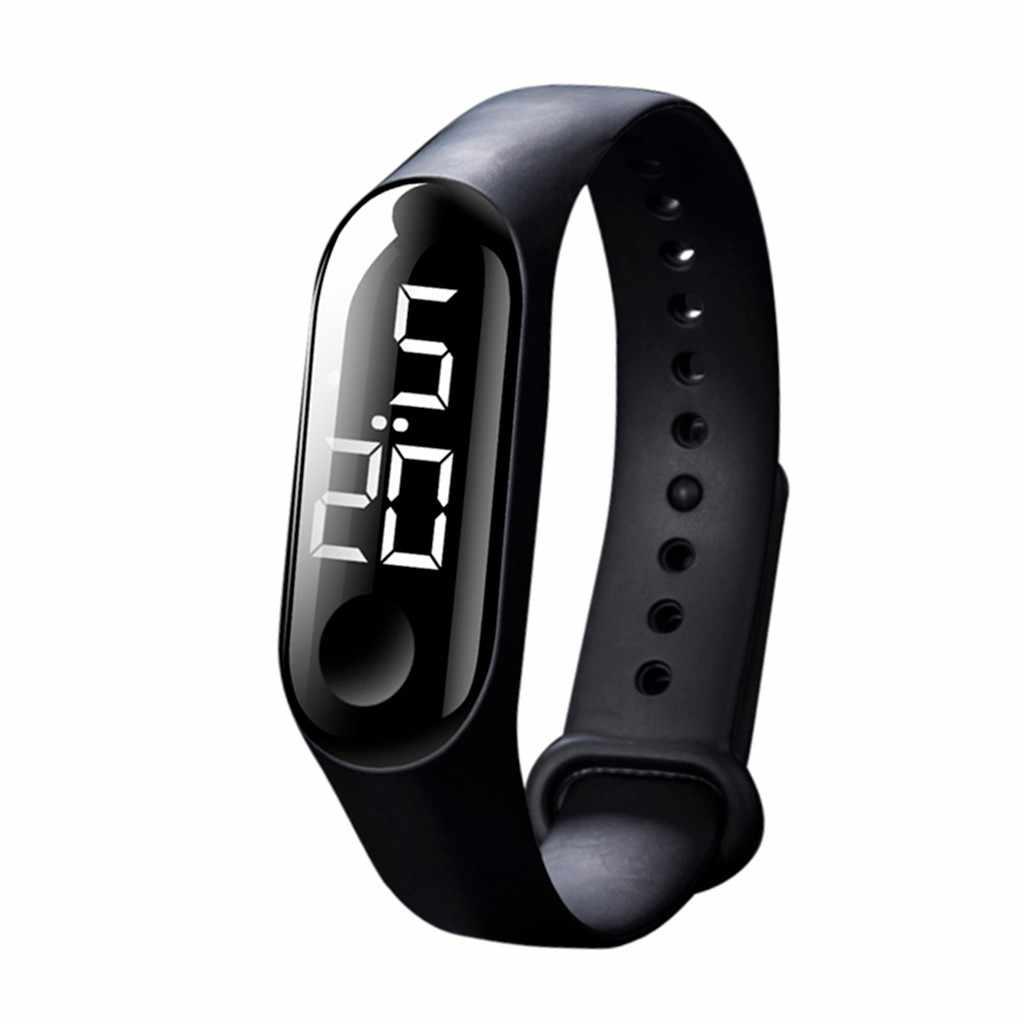 Hommes femmes Sport décontracté montres LED horloge numérique capteur lumineux étanche montre-bracelet montre femme homme Relogio Masculino