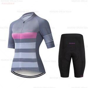 Image 4 - HuanGe 2020  Ciclismo  High Quality Women Summer Short Sleeve Cycling Clothing Cyc Clothes  cycling clothing  bike uniform