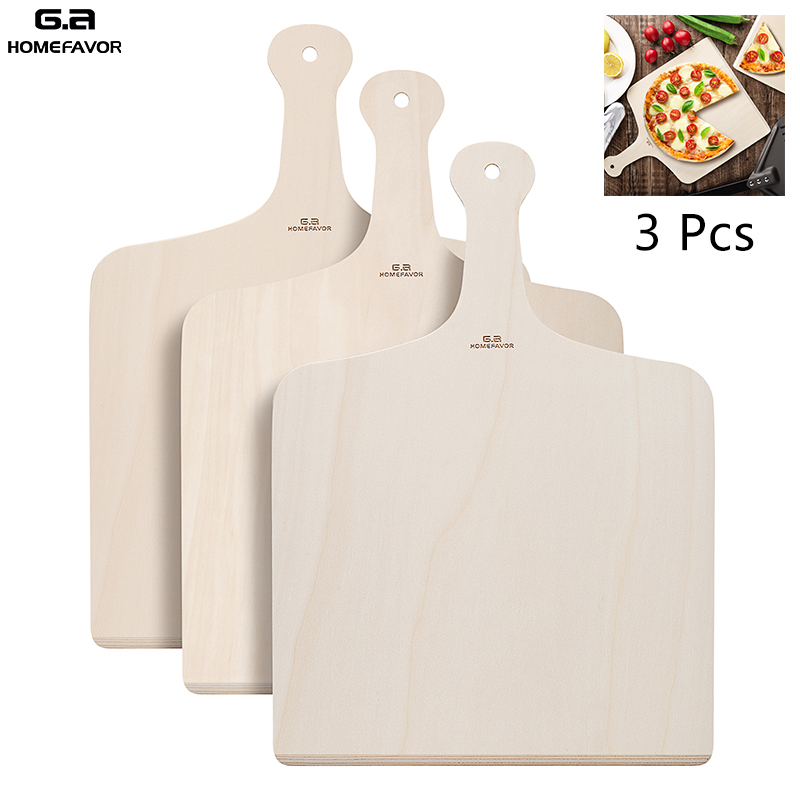 Pizza Peel Wooden Cutting Board Custom Pizza Shovel Pastry Baking Paddle Kitchen BBQ Tools