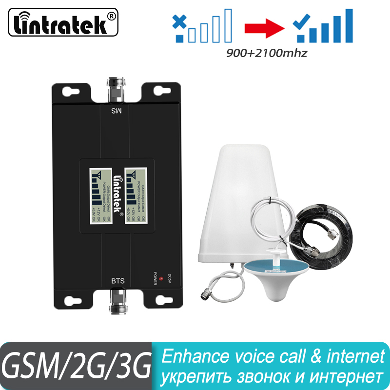 GSM 900 3G 2100mhz Repeater Dual Band Booster UMTS Phone Amplifier 3G WCDMA 2100 Cellular Mobile Booster 65dB LCD Display#70