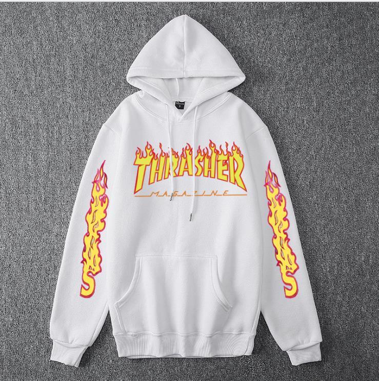 Men Women's Casual Hoodies Fashion Long Sleeve Flame Printed Couple Hoodies Sweatshirts S-4Xl 14