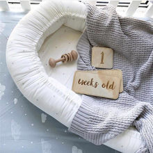 Nordic Style Wooden Baby Birthday Memorial Milestone Card Newborns Photography Props Accessories Photo Shoot Photographyprops(China)