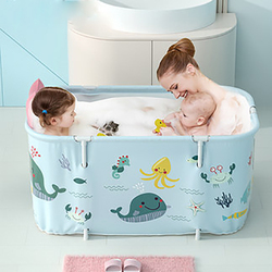 Foldable Bathtub Adult Child Bath Tub Universal Bathtub Fold No Need To Disassemble Full Body Large Bathtub Household Artifact