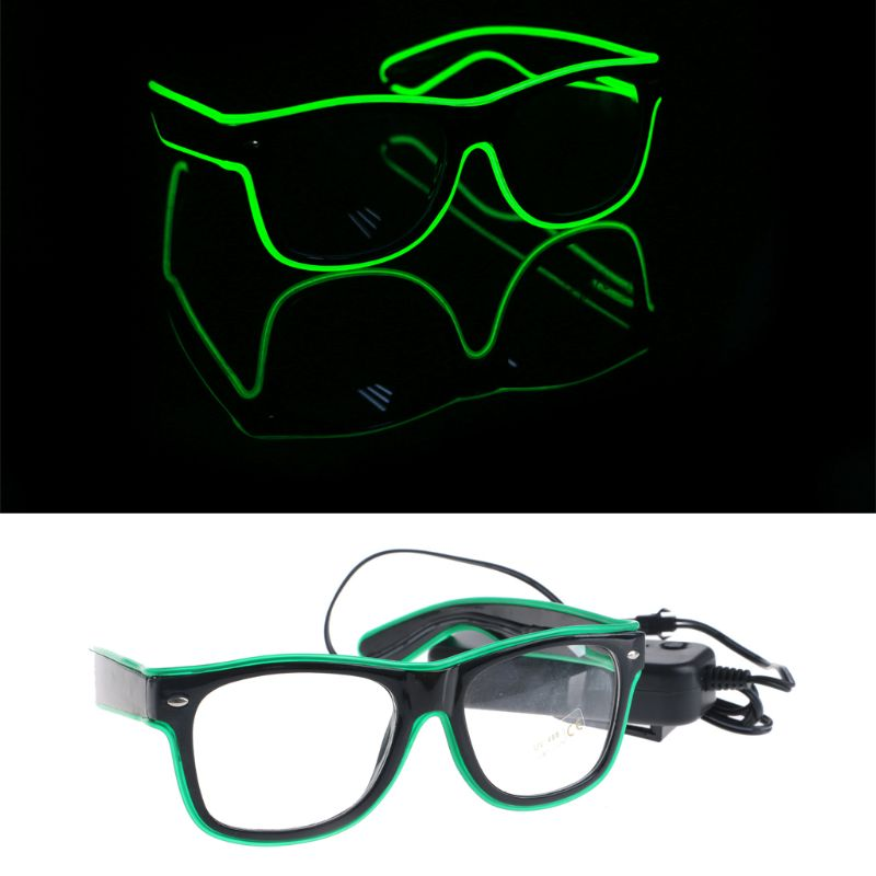 EL Wire Goggles Glow Cool Glasses LED Luminous Sunglasses Party Glasses For Kids Party Club Stage Disco  Q6PD