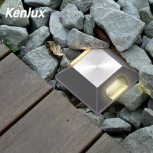 Kenlux Square Deck LED Underground light 2W AC85-265V D52mm COB Aluminum Waterproof Buried Yard Lamp Landscape inground Lighting(China)