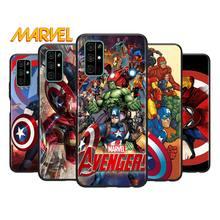 Marvel Avengers for Huawei Honor V30 20 Pro X10 9S 9A 9C 9X 8X 10 9 Lite 8A 7C 7A Pro TPU Soft Black Phone Case