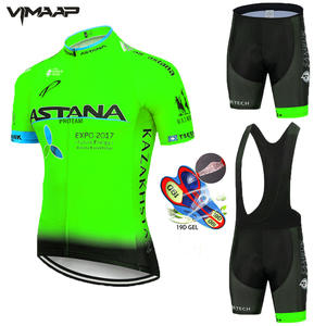 ASTANA cycling jersey 2020 set short sleeve men road bike mountain MTB team bicycle cycle clothing Maillot Sponge Pants 19D Pad