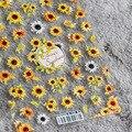 1 шт. наклейки для ногтей в виде подсолнуха весенние цветы маргаритки 3D наклейки для ногтей модный дизайн ногтей декоративные наклейки