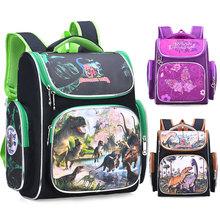 Dziecięce plecaki dziecięce szkolne torby dziewczęce chłopcy ortopedyczne tornistry plecaki do szkoły podstawowej plecaki z postaciami z kreskówek mochila infantil tanie tanio Kamida Nylon zipper Animal prints kids bags 21cm 0 8kg 32cm 41cm