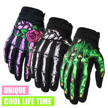 Men Motorcycle Gloves Full Finger Skeleton Breathable Winter Mtb Cycling Dirt Bike