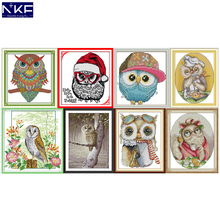 NKF Lovely Owl Cross Stitch Kits 11CT 14CT Chinese