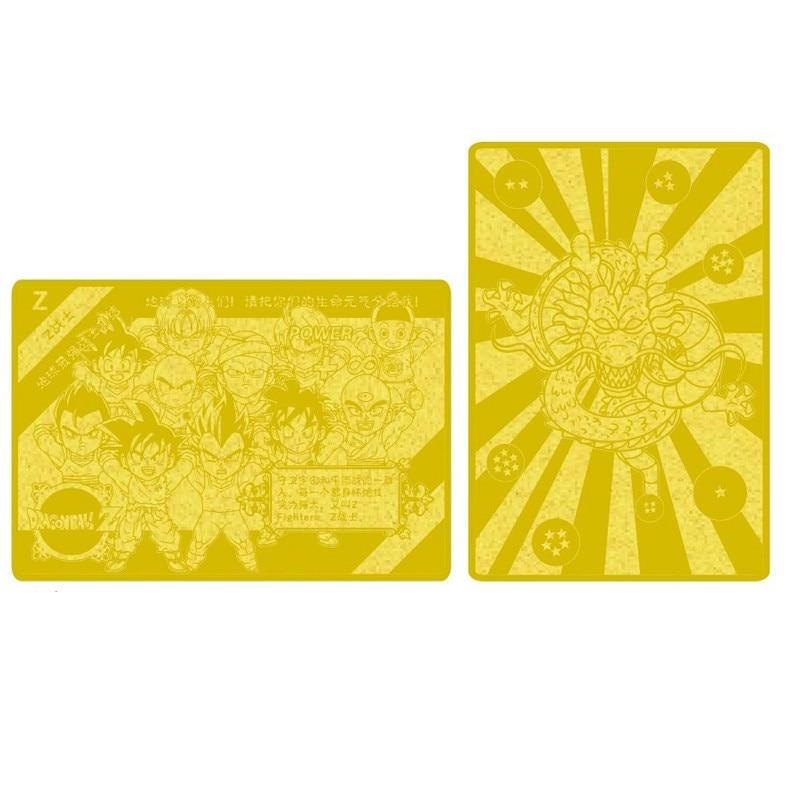 2pcs/set Super Dragon Ball Z Heroes Battle Metal Card Ultra Instinct Goku Vegeta Game Collection Cards