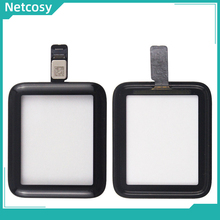 Netcosy 38mm 42mm dokunmatik ekran Digitizer cam Lens paneli Apple için İzle serisi 2 serisi 3 38mm 42mm dokunmatik ekran onarım parçaları
