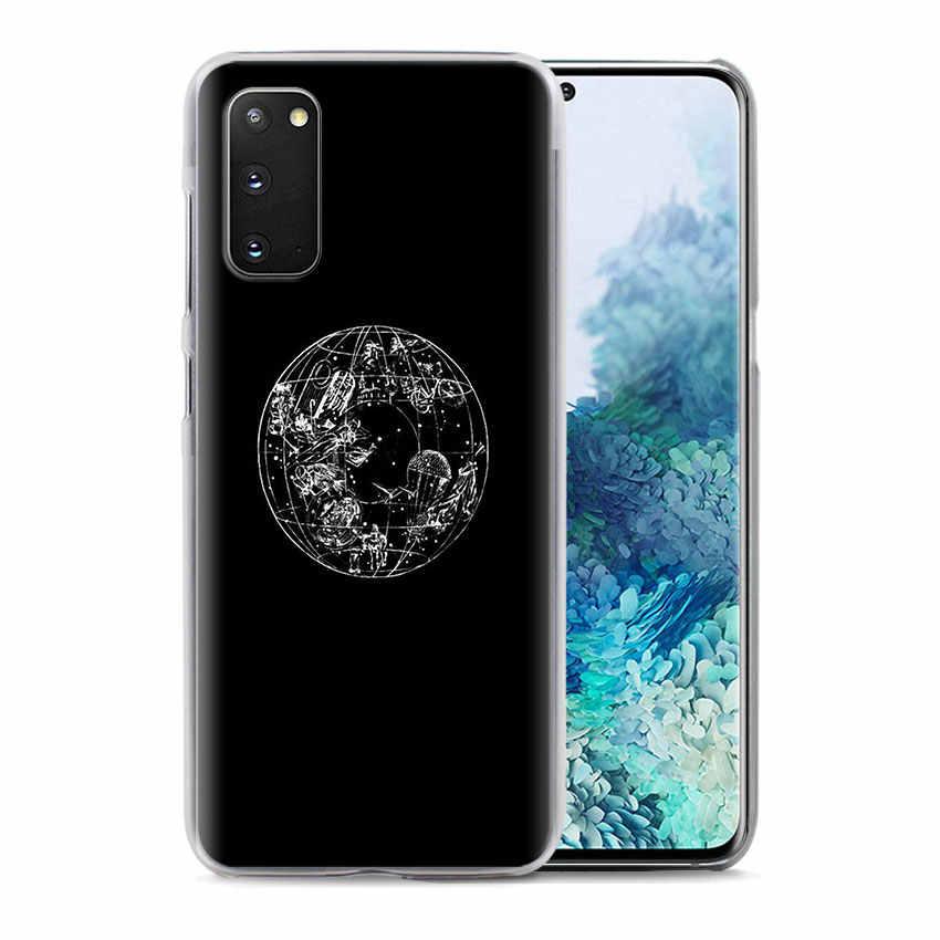 Capa de telefone para samsung galaxy s10 s20 + s10e s8 s9 s10 lite s20 plus nota 8 9 10 plus 5g capa wanderlust mapa casos de viagem capa