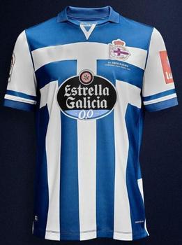 20/21 for Deportivo La Coruna adult Camiseta de futbol 2020 Deportivo La Cor Futbol Camisa Leisure Best Quality T-Shirts - 20 21 home, S