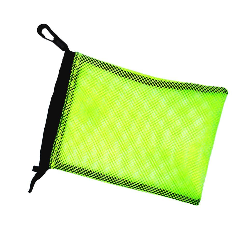 2pcs Drawstring Mesh Bag Storage Pouch For Scuba Diving Snorkeling 9''x6.5''