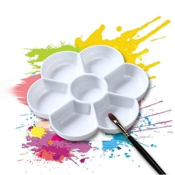 7 穴パレット高品質アクリルガッシュ水彩ペイントパレットプラスチック|パレット|   -