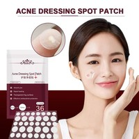 New 36pcs Invisible Anti-acne Paste Patch Treatment Pimple Acne Blemish Dressing Spot Hydrocolloid Clear Stickers Face Skin Care