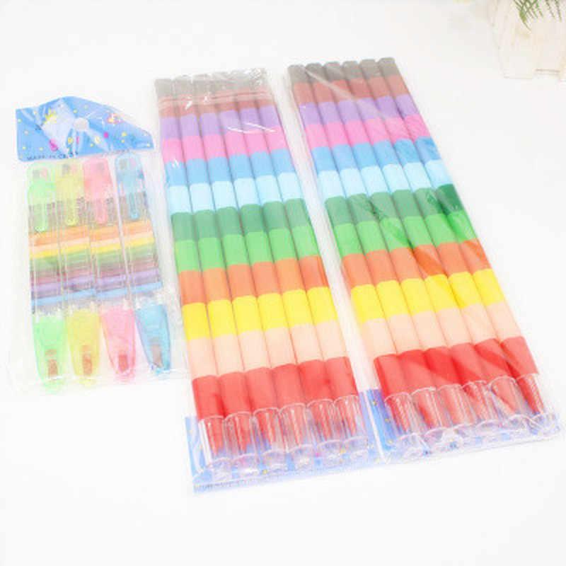 12 farben Baby Zeichnung Buntstifte Bunte Ölfarbe Stift Kinder Kinder Kreative Blöcke Buntstifte Malerei Lieferungen Geschenk
