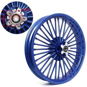 "Image 3 - BIKINGBOY 21"" x 3.5"" Single Disc Front Wheel Rim Hub 36 Fat King Spokes For Harley Dyna / Softail / Touring / Sportster"