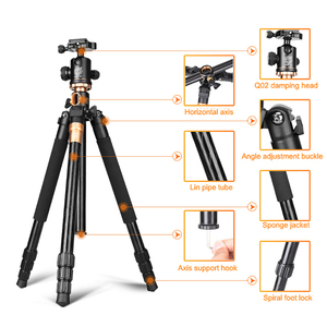 Image 2 - QZSD Q999H Aluminium Alloy Camera Tripod  Video Monopod Professional Extendable Tripod with Quick Release Plate and Ball Head