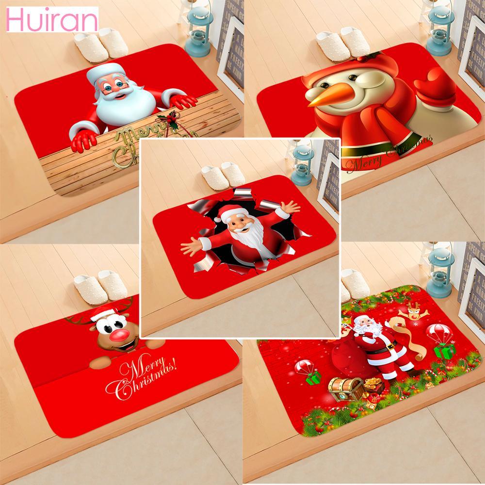Santa claus tapete de flanela feliz natal decoração para casa produtos de natal cristmas decoração navidad 2019 noel feliz ano novo 2020