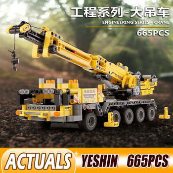 Yeshin 701800 665pcs Technic Car City Engineering Compatible 42009 Building Blocks Bricks DIY Toys For Children Gifts image