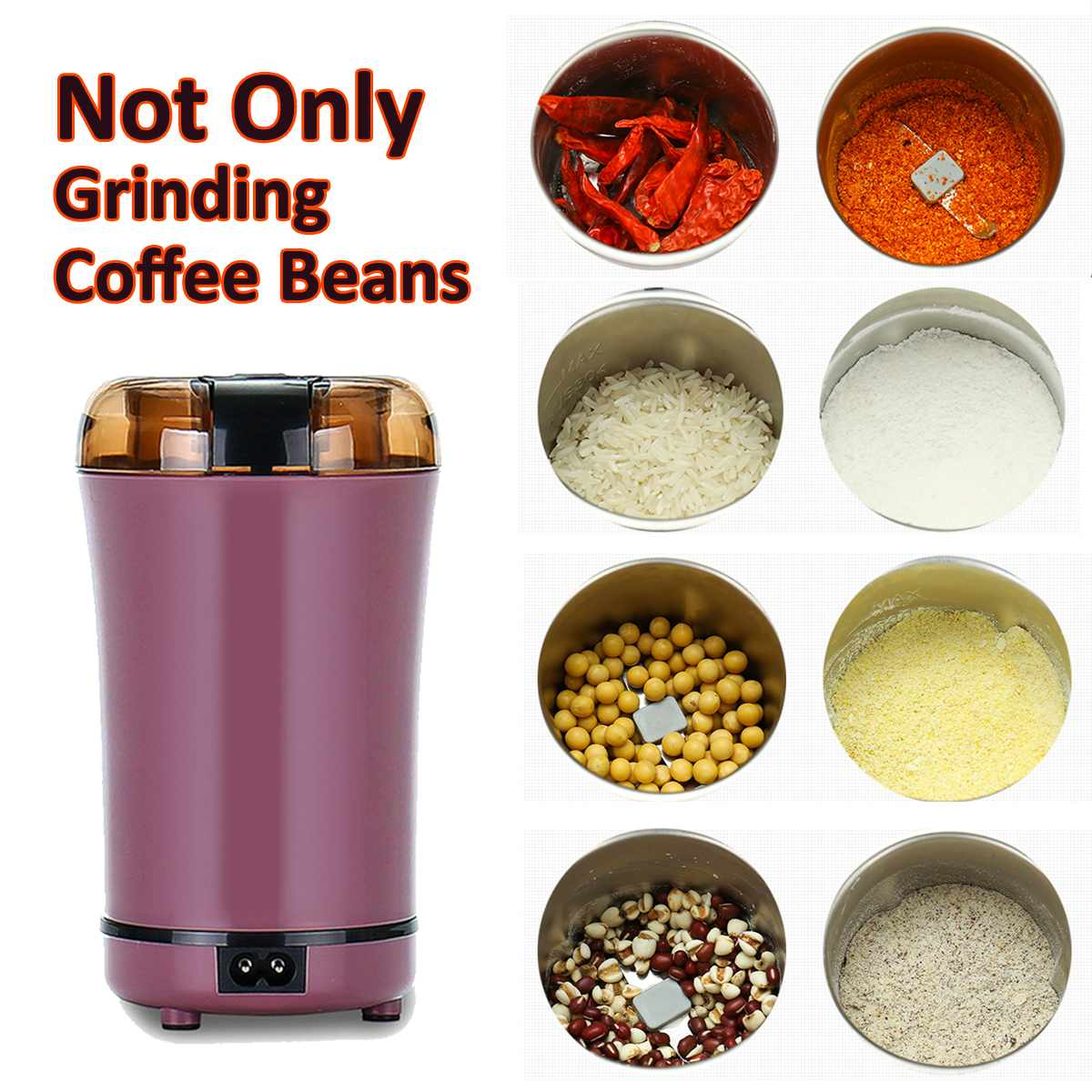 Multifunctional Electric Coffee and Spice Grinder