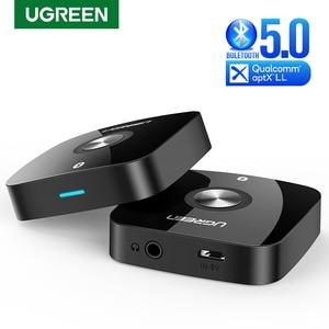 UGREEN 3.5 Bluetooth 5.0 Receiver aptX LL 3.5mm Jack Aux Wireless Adapter Music for TV Car Bluetooth 5.0 3.5 mm Audio Receiver