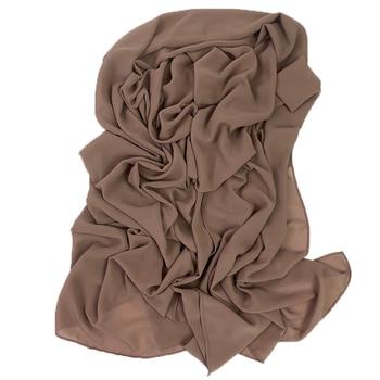 2M good stitching stitch plain high quality premium heavy Chiffon hijab scarf Malaysian Women s