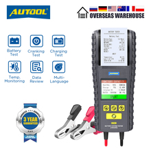 AUTOOL BT860 12  24V Car Battery Tester with Printer  Real Time Temperature Monitoring 3.2 Inch Color Screen Battery Tester Tool