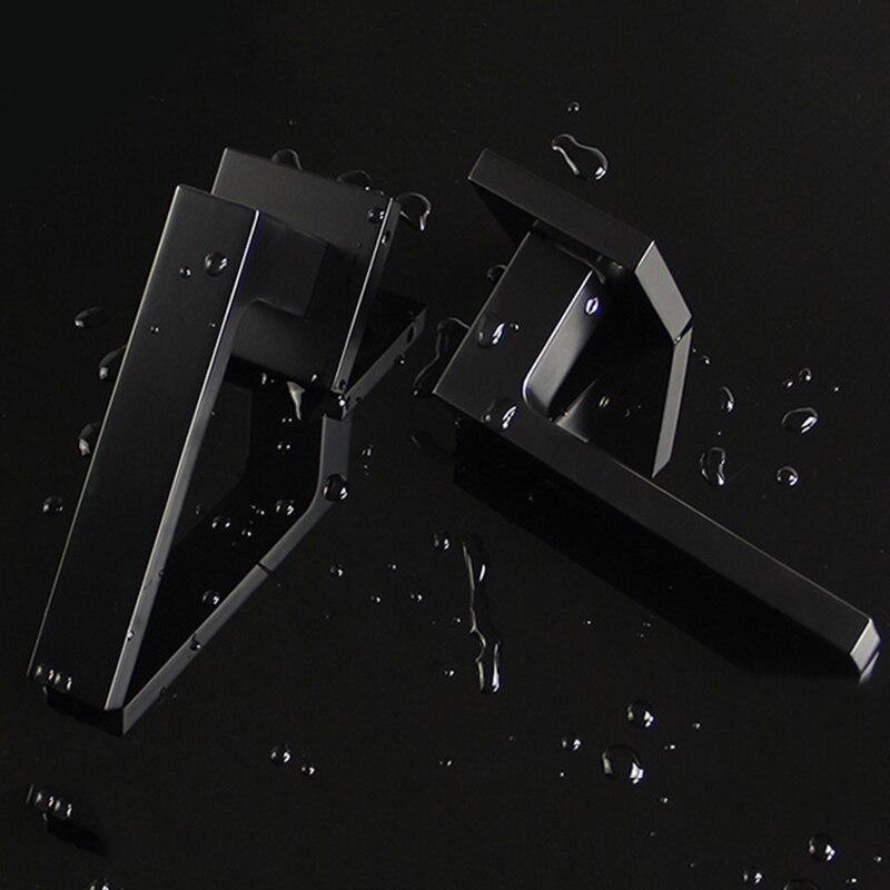 Black Mute Door Lock Set Reversal Door Lock Kit for 35-50mm Doors Zinc Alloy Handle B88