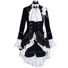 Costume de Cosplay noir pour majordome, Ciel fantôme ruche, 2019