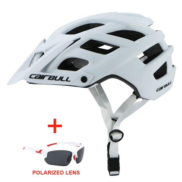 Capacete de bicicleta com óculos de sol integralmente-moldado estrada da bicicleta mtb capacete das mulheres dos homens esportes ao ar livre equitação ciclismo capacete 5