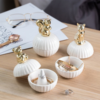 Modern Ornament Dust proof Covered Storage Jewelry box/Key Necklace Bracelet Earring Ring Bracket Bottle Jar Home Desk decor