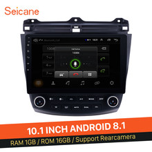 "Seicane 2Din Android 8.1 10.1 ""GPS araba radyo Wifi multimedya oynatıcı kafa ünitesi Honda Accord 7 2003 2004 2005 2006 2007(China)"