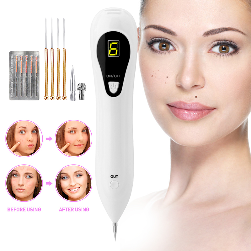 2020 Laser Mole Removal Pen Wart Plasma Remover Tool Beauty Skin Care Corn Freckle Tag Nevus Dark Age Sweep Spot Tattoo Set
