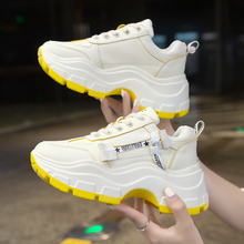 Brand Black Sneakers Women 2019 New Shoes dames Chunky Fashion White Platform