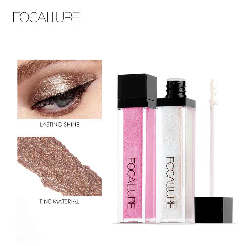 Focallure ظلال عيون بريق مقاوم للماء يشكلون كامل المهنية الصباغ السائل الظل ماكياج الجمال