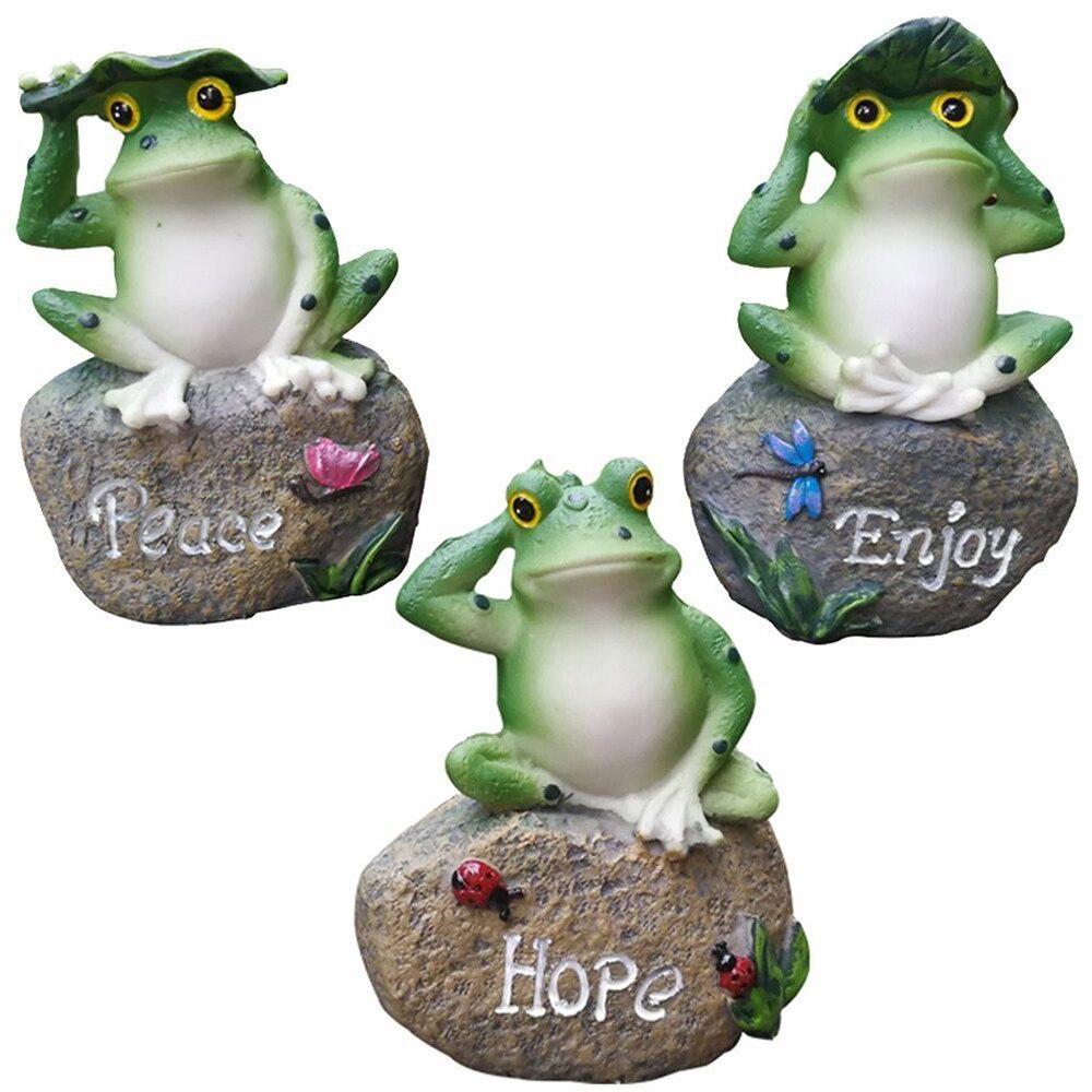 Garden Decor Statue Frogs Outdoor Patio