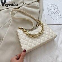 Sac à main en cuir PU motif diamant pour femmes, sacoche à bandoulière, Design Vintage, fourre-tout, Baguette
