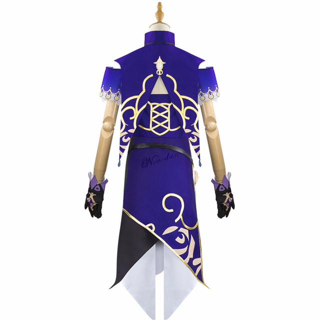 Anime Game Genshin Impact Lisa Witch of Purple Rose Cosplay Costume The Librarian Sexy Halloween Party Dress 5
