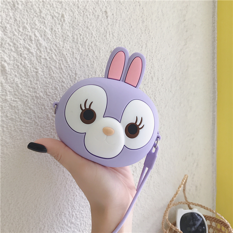 Girls Cartoon Mini Coin Purse Soft Silicone Money Bag Change Burse Women Small Key Pouch Money Wallet Earphone Case Anime Box