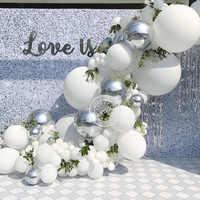 36inch White Latex Balloons Garland Kit 4d silver balloon Arch Wedding Supplies Bridal Shower Birthday Party Baby Boy Girl Decor