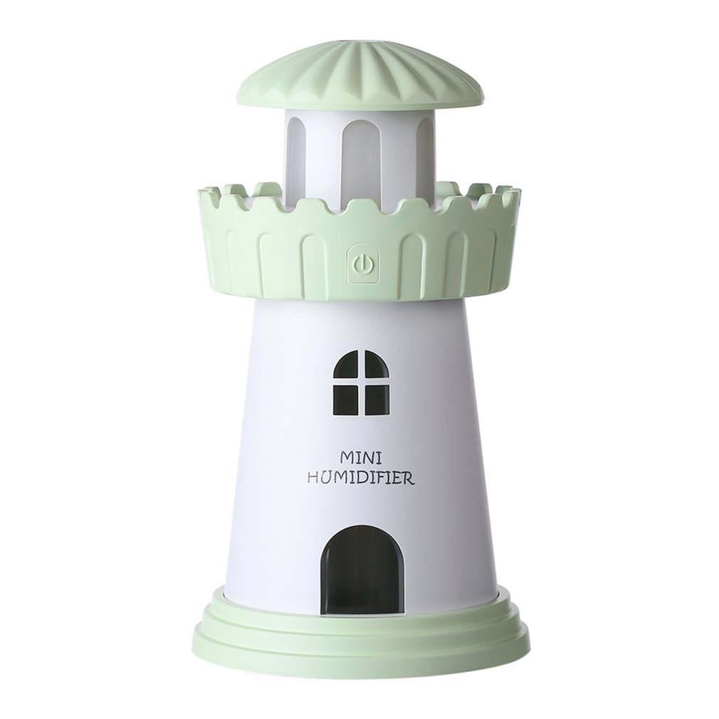 2019 New Lighthouse Humidifier Household Appliance Atomizer USB Air Humidifier Dorpshipping