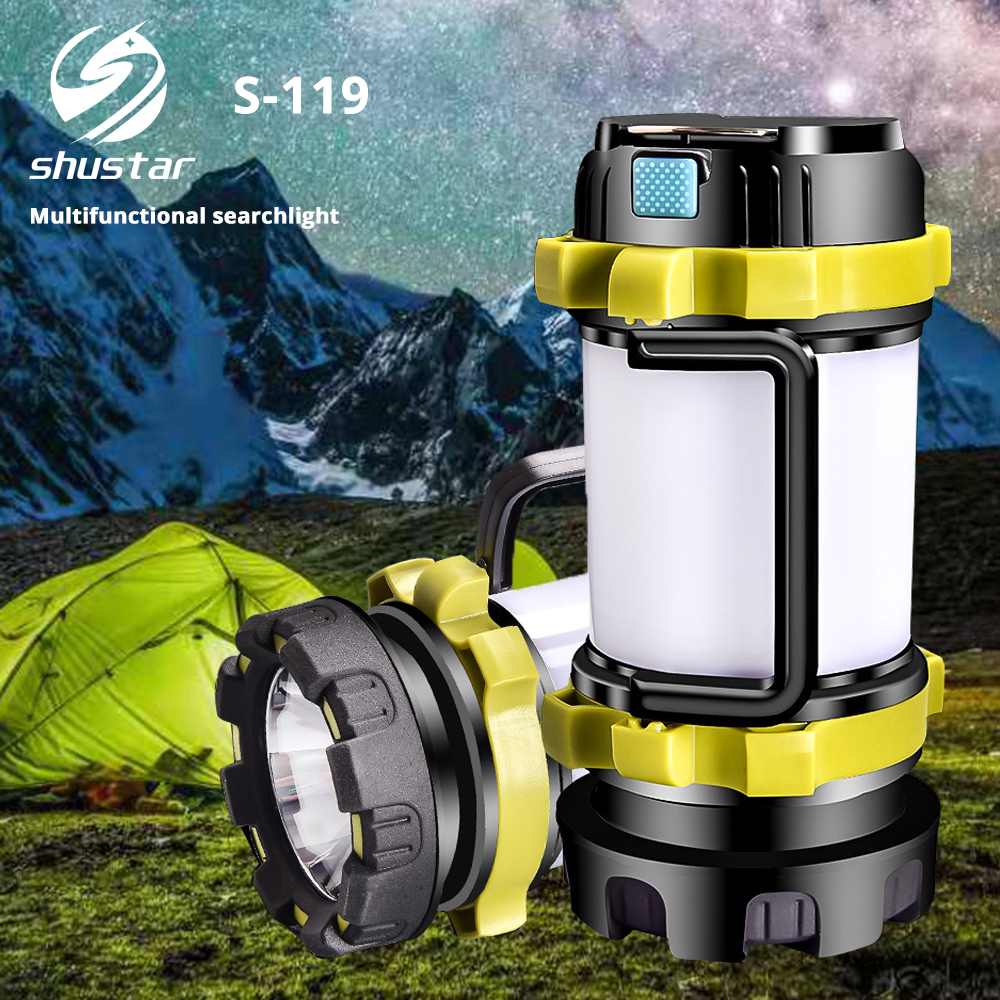 Multifunctional portable searchlight Super Bright Portable Spotlight Built-in rechargeable lithium battery Suitable for camping