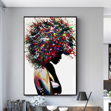 Graffiti Art Black Woman Canvas Paintings On the Wall Posters And Prints African Woman Wall Art Modern Pictures for Home Design